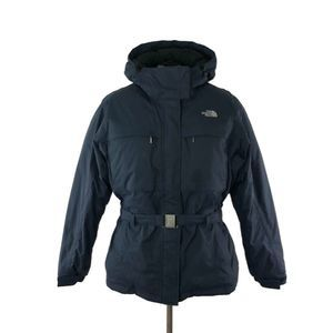 The North Face Greenland Blue Belted Down Jacket